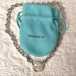 Tiffany & Co. Sterling Silver Oval Tag Choker